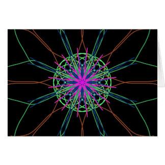 Rosor för svart för KaleidoscopeMandalakonst Hälsningskort
