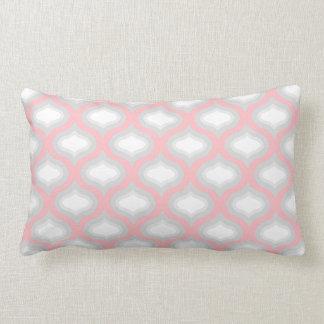 Rosor & grå färg belägger med tegel den vinkara lumbarkudde