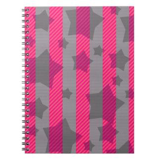 Rosor & grått anteckningsbok