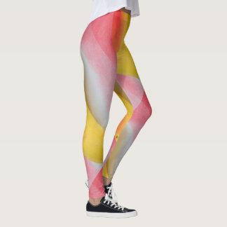 Rosor gula Swirly flickaktigt Leggings