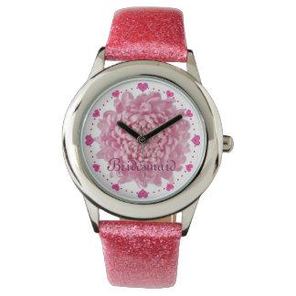 Rosor knäppas klockan för glitter för armbandsur