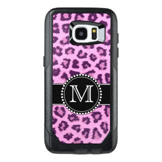 Rosor lilor, Leopard flår Monogrammed OtterBox Samsung Galaxy S7 Edge Skal