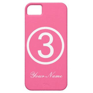 Rosor numrerar fodral tre iPhone 5 fodral