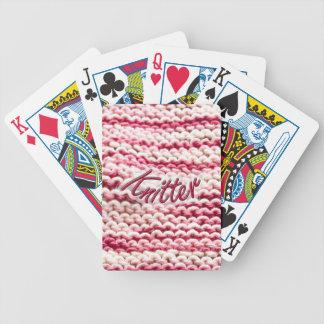 Rosor nyanserad Knitter Spelkort