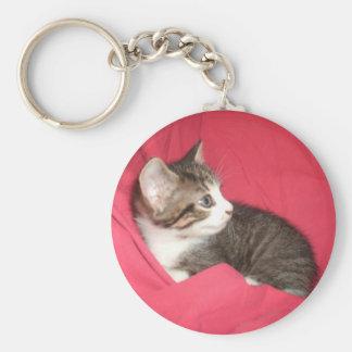 Rosor och grå färg rund nyckelring
