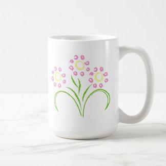 Rosor och gula blommor kaffemugg