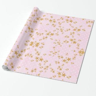 Rosor och guld- slående in papper presentpapper