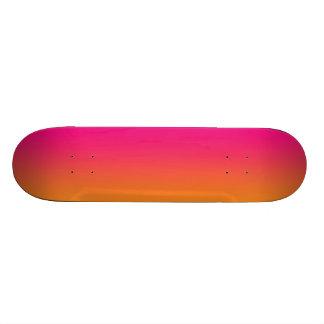 Rosor och orange skateboard bräda 20,5 cm