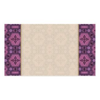 Rosor och purpurfärgad Retro geometrisk blommigt Set Av Standard Visitkort