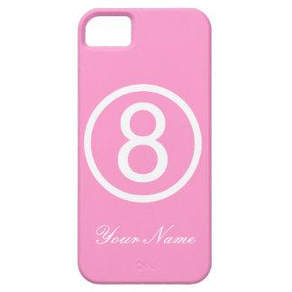 Rosor och vit numrerar fodral åtta iPhone 5 Case-Mate cases