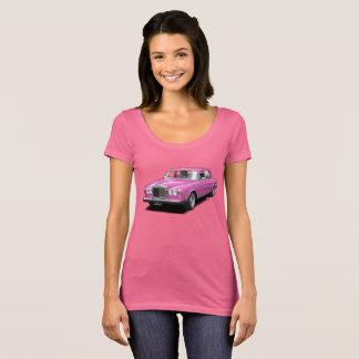 Rosor på den rosa rullande kungliga t shirts
