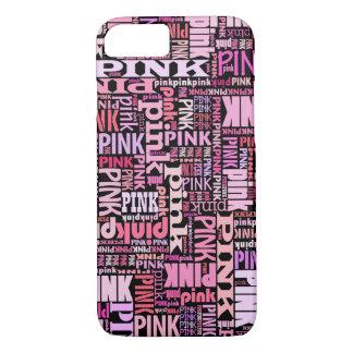 Rosor på det svart textmönster för rosa älskare