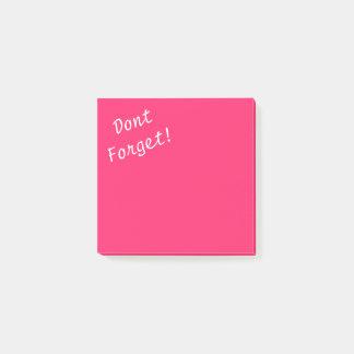 Rosor Rynka-Hoade chockrosa glömmer inte Post-it Block