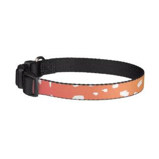 Rosor till den orange prickiga hundhalsbandet halsband husdjur