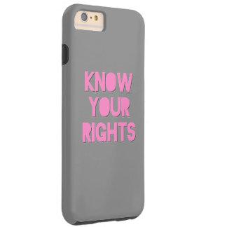 Rosor vet ditt fodral för rättigheter iPhone6 Tough iPhone 6 Plus Fodral