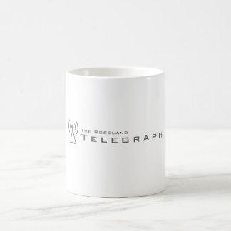 Rossland telegraferar muggen kaffemugg