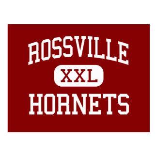 Rossville - bålgetingar - mittet - Rossville Vykort