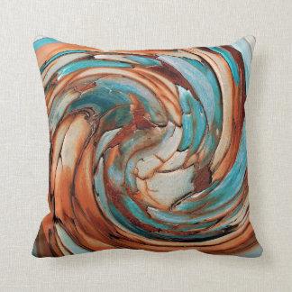 Rosta dekorativ kudde för konst för