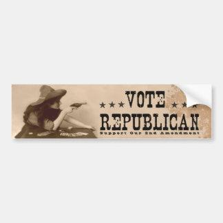 Rösta den 2nd rättelsen för republikansk vintage bildekal