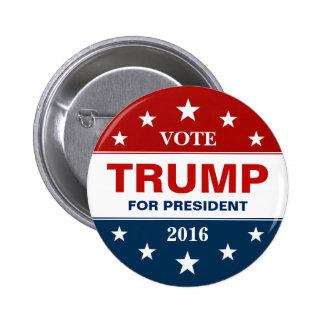 Rösta Donald Trump för kampanjen för president Standard Knapp Rund 5.7 Cm