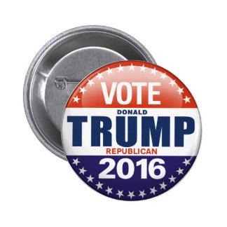 Rösta Donald Trump för presidenten 2016 Standard Knapp Rund 5.7 Cm