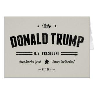 Rösta Donald Trump Hälsningskort