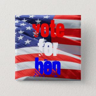 Rösta för Ben Carson, presidentval Standard Kanpp Fyrkantig 5.1 Cm