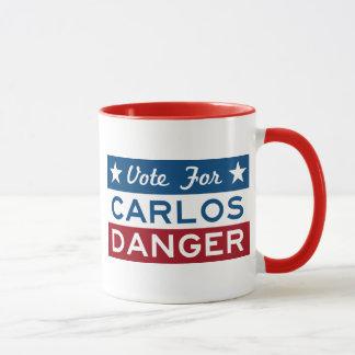 Rösta för Carlos fara Mugg