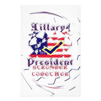 Rösta för Hillary USA som starkare min varar Brevpapper