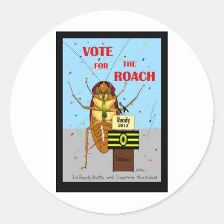 Rösta för mörten runt klistermärke