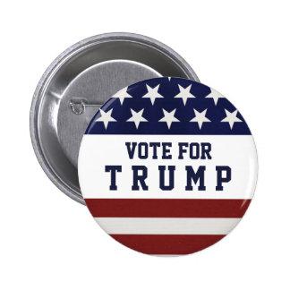 Rösta för trumfpresidentval 2016 standard knapp rund 5.7 cm
