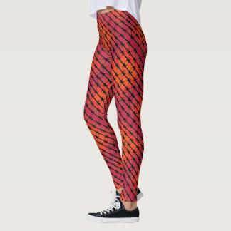 Rosta förse med en hulling rött - binda leggings