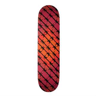 Rosta förse med en hulling rött - binda mini skateboard bräda 18,7 cm