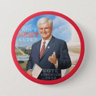 Rösta Gingrich 2012 Mellanstor Knapp Rund 7.6 Cm