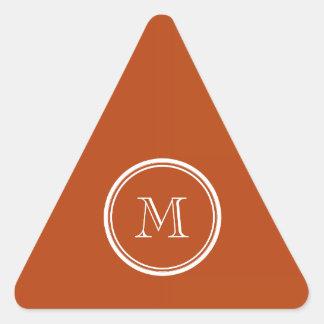 Rosta kicken avslutar den initiala kulöra triangelformat klistermärke