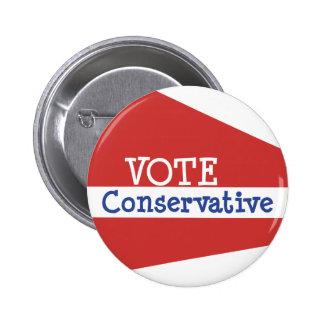 RÖSTA konservativet Knapp