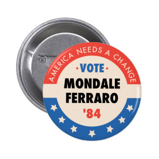 Rösta Mondale/Ferraro '84 Pins