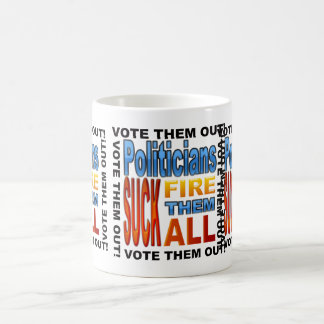 Rösta politikar ut! kaffemugg