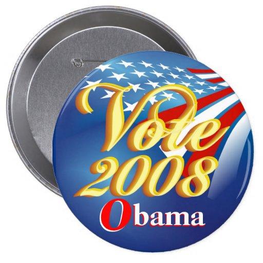 Rösta politiska Obama - knäppas Knapp