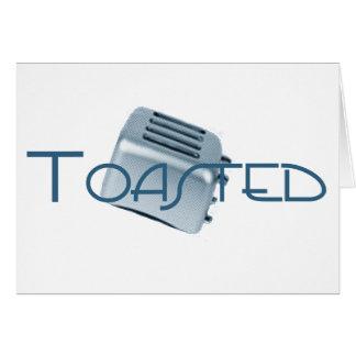 Rostade - Retro Toaster - blått Hälsningskort