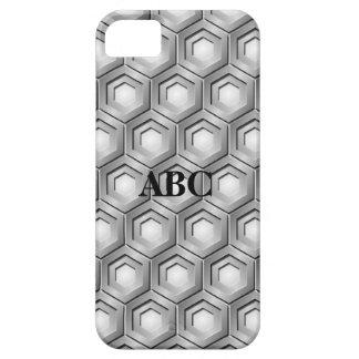 Rostfritt stål belagt med tegel Hexfodral för iPhone 5 Fodraler