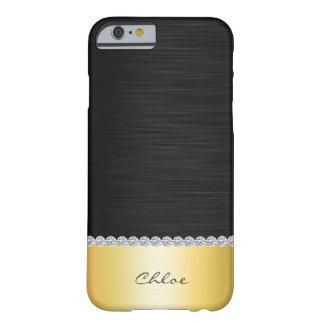 rostfritt stål med diamanter och namn barely there iPhone 6 fodral