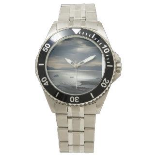 Rostfritt stålklocka med att bedöva armbandsur