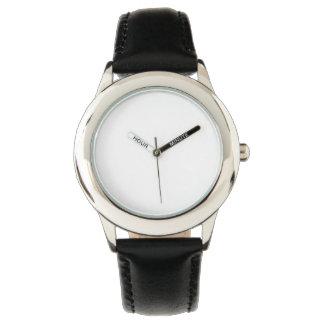 Rostfritt stålsvartläder fäster klockan armbandsur