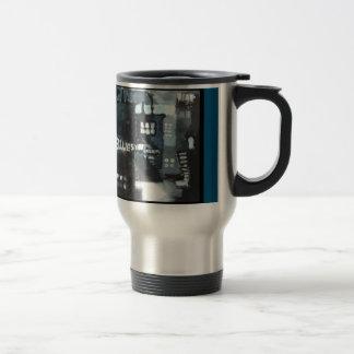 Rostfritt ståltravel mug - konstdekor: Deppighet Resemugg