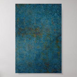 Rostig bakgrund för fläckblåttmönster poster