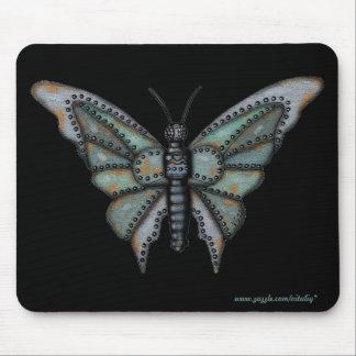 Rostig mousepad för coola för metallfjärilsgrafik mus mattor