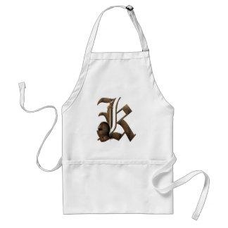 Rostiga riddare märka med sina initialer K Förkläde