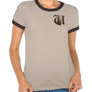 Rostiga riddare märka med sina initialer U T Shirt