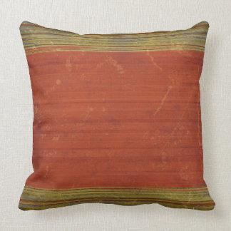 Rostiga röda gröna blåttdekorativ kudde